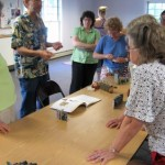Book Arts Guild of Vermont – Peter and Donna Thomas Miniature Books workshop – August 2010