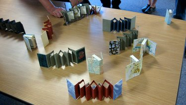 Book Arts Guild of Vermont - Peter and Donna Thomas Miniature Books workshop - August 2010