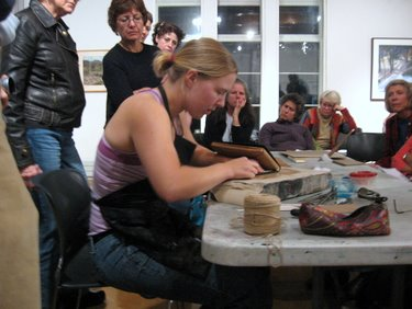 Book Arts Guild of Vermont - Leather Binding with Elizabeth Rideout - October 2010