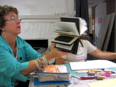 Book Arts Guild of Vermont - Piano Hinge Binding with Jill Abilock - September 2011