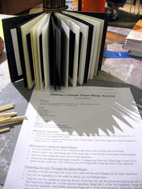Book Arts Guild of Vermont - Piano Hinge Binding with Jill Abilock - September 2011