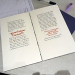 Book Arts Guild of Vermont – Calligraphy and Manuscript Gilding with Maryanne Grebenstein – November 2011