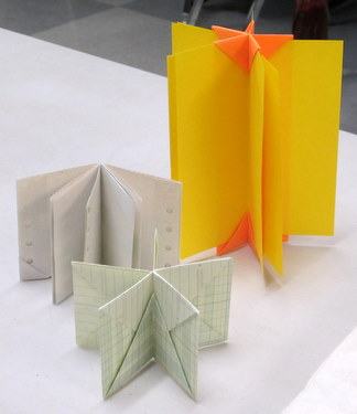 Book Arts Guild of Vermont - Folded Books with Elissa Campbell - February 2012