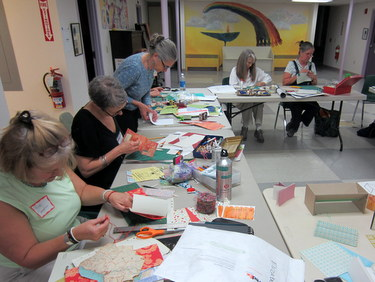 Book Arts Guild of Vermont - Build-a-Book Round Robin with Jill Abilock - March 2012