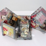 "Handmade book ""He Chirps Before Fire"" by Maryann Riker"