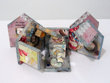 "Handmade book ""He Chirps Before Fire"" by Maryann Riker"