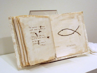 "Handmade book ""Symbols of Spirit"" by Ann D. Watson"