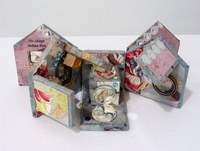 """He Chirps Before Fire"" handmade book by Maryann Riker"
