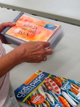 Handmade book by Marcia Vogler - Book Arts Guild of Vermont Open Bindery - June 2012