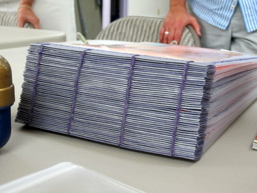 Single sheet binding by Marcia Vogler - Book Arts Guild of Vermont Open Bindery - June 2012