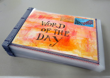 Handmade book by Marcia Vogler - Book Arts Guild of Vermont Open Bindery - June 2012