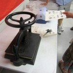 Book press – Book Arts Guild of Vermont Open Bindery – June 2012