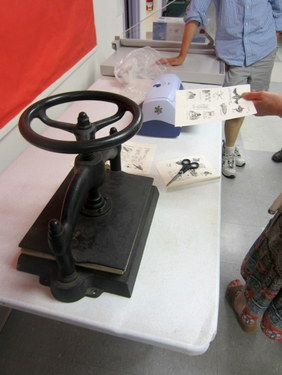Book press - Book Arts Guild of Vermont Open Bindery - June 2012