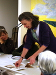 Stephanie Wolff at Book Arts Guild of Vermont meeting