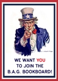 Join the B.A.G. Bookboard - via Uncle Sam poster