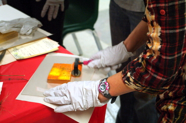 October 2012: Hands-on Monoprint Workshop with Lyna Lou Nordstrom