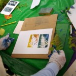 October 2012: Hands-on Monoprint Workshop with Lyna Lou Nordstrom