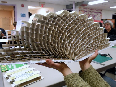 Handmade accordion book by Dorsey Hogg
