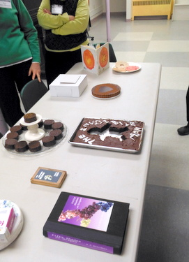 Edible books at Book Arts Guild of Vermont meeting