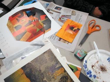 Handmade postcards in progress