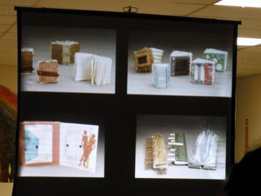 Erin Sweeney's slide presentation at Book Arts Guild of Vermont meeting