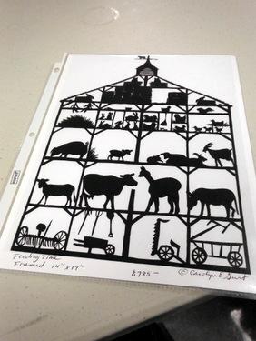 Cut paper art by Carolyn Guest