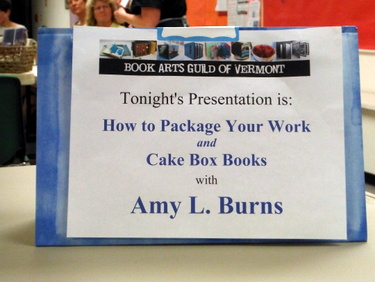 DSCF8432 How to Package Your Work and Cake Box Books with Amy Burns