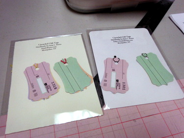 Handmade gift tags by Amy Burns