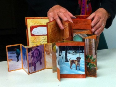 Nancy Stone sharing her artist journal