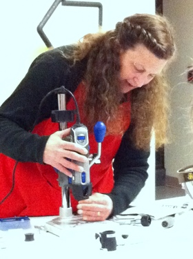 jill <em>Meet the Dremel – A Book Artist's Dream Tool</em> with Elissa Campbell and Jill Abilock