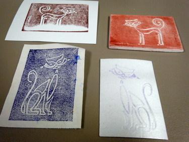 Styrofoam prints