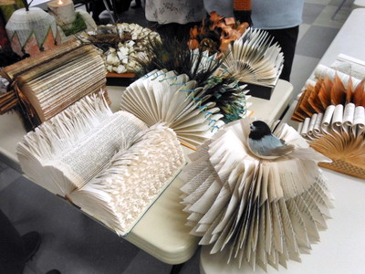 Altered books by Marilyn Gillis