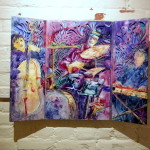 Vibrations: Drum Trio by Nancy Stone