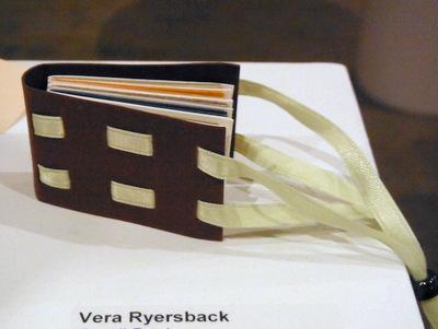 Handmade book by Vera Ryersback