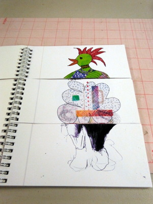 Exquisite corpse book