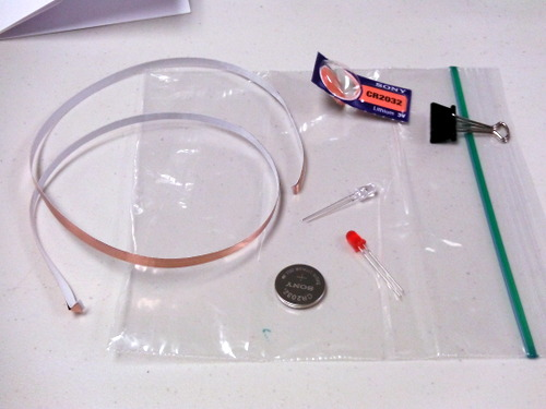 Supplies for paper circuitry