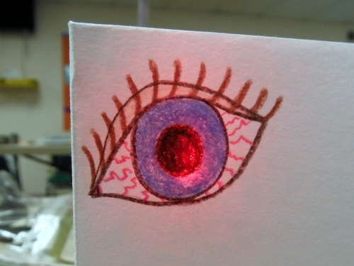 Handmade card with LED light