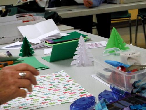 Handmade paper trees