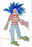 Blue haired clown image