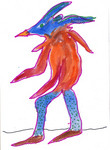 Blue headed creature image