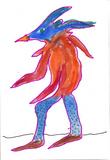 Blue headed creature image