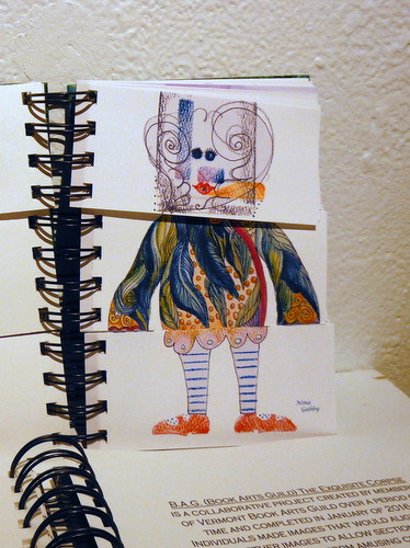 B.A.G. collaborative Exquisite Corpse book by Rebecca Boardman