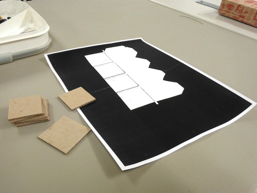 Box making template and bookboard