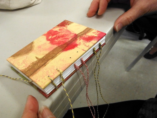 Coptic binding in progress