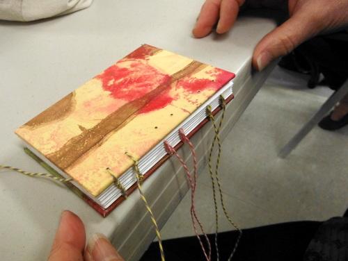 Coptic binding in progress