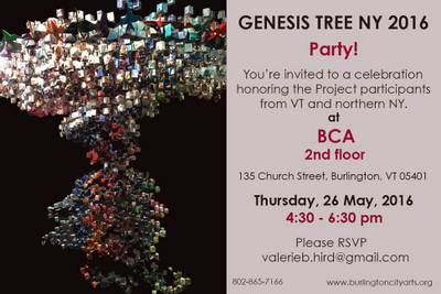Genesis Tree party invitation