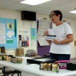 Ann Joppe-Mercure teaching the Jacob's Ladder book