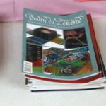 Bookbinding books and magazines