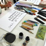Calligraphy paper and supplies