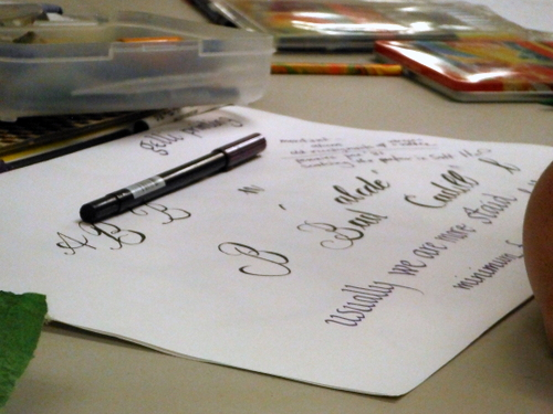 Calligraphy and pen